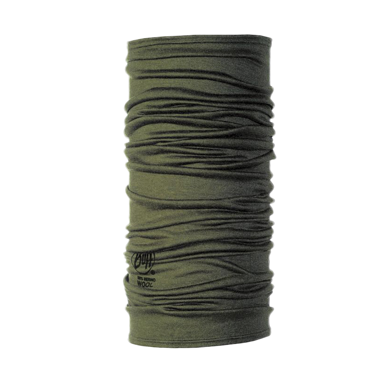 BUFF Multifunktionstuch Wool Solid oliv