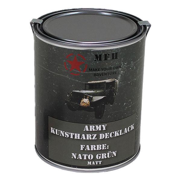 Farbdose Army matt Nato grün 1 L