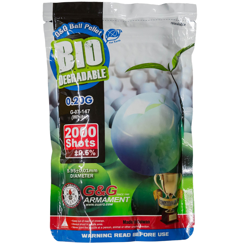 G&G Bio Airsoft BBs 6 mm 0.2 g 2000 Stück weiß