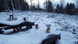 Tee im Schnee