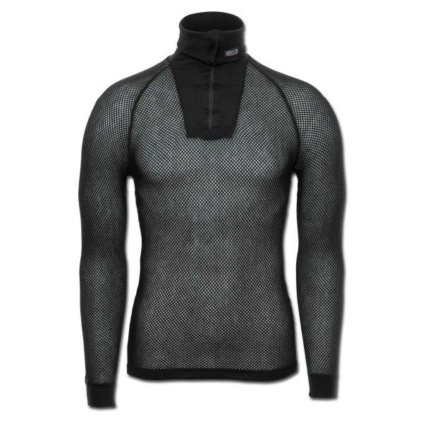 Brynje Zip-Poloshirt schwarz