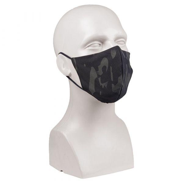 Mil-Tec Mund-Nasenbedeckung V-Shape multitarn schwarz