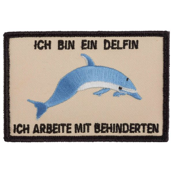 Café Viereck Patch Delfin Version 1