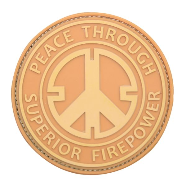 3D-Patch Peace Through Superior Firepower coyote