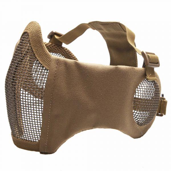 ASG Gittermaske Metall-Mesh m. Pads u. Ohrprotektoren tan