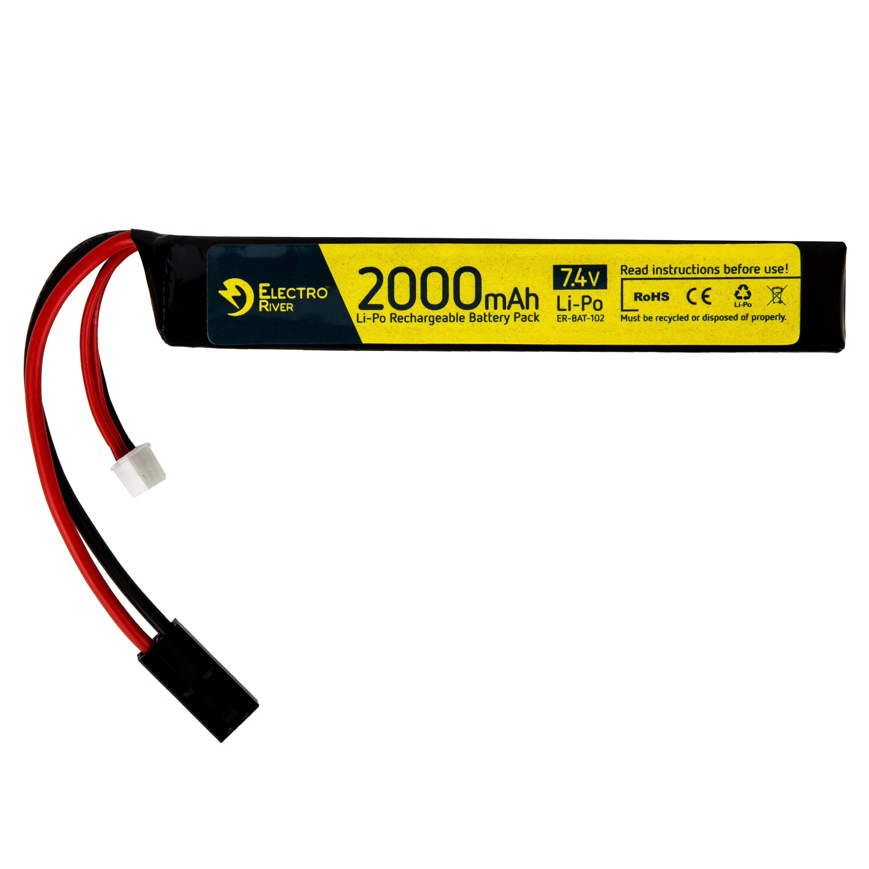 Electro River Li-Po Akku 7.4 V 2000 mAh Stick 15/30C Tam