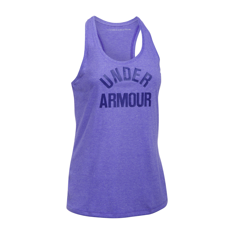 Under Armour Fitness Damen Threadborne Tank Top lila