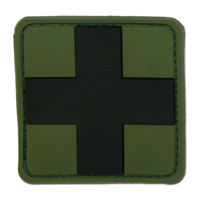 3D-Patch Red Cross Medic oliv-schwarz
