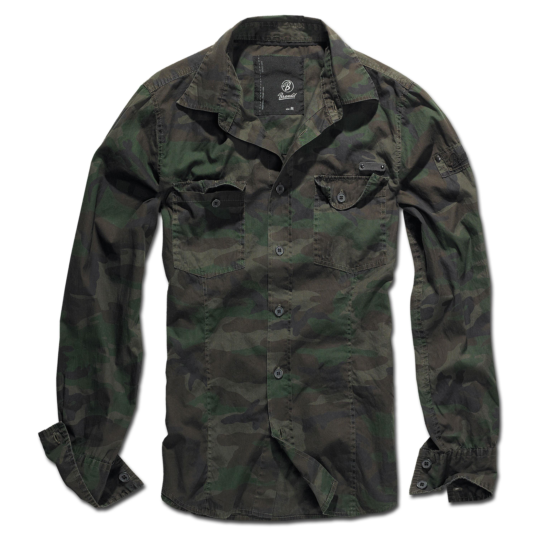Brandit Shirt SlimFit woodland