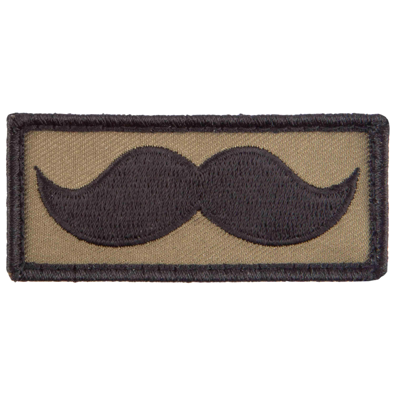 Café Viereck Patch Mustache Bart oliv