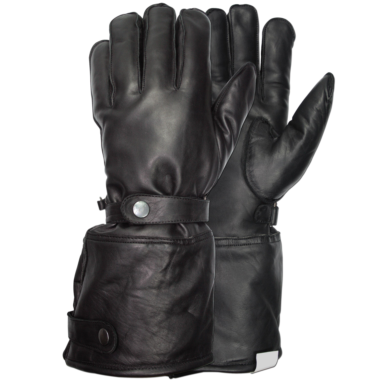 Retro Handschuhe Leder schwarz