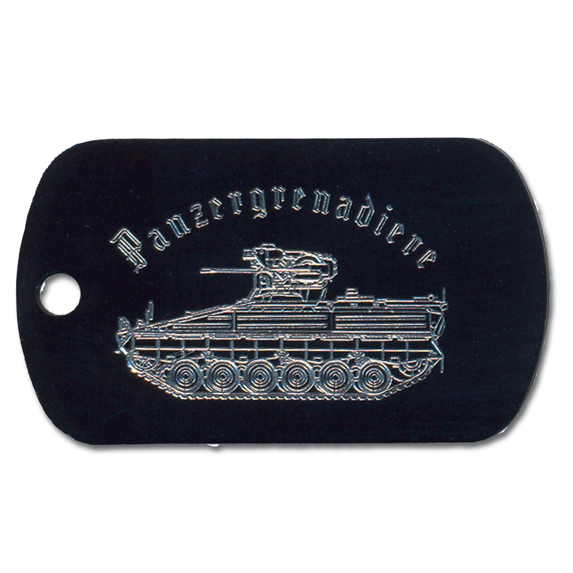 Erkennungsmarke mit Gravur Panzergrenadier