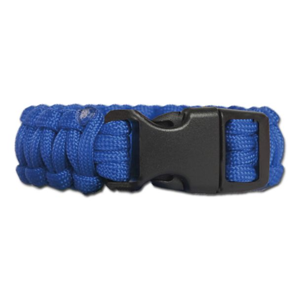 Survival Paracord Bracelet breit blau