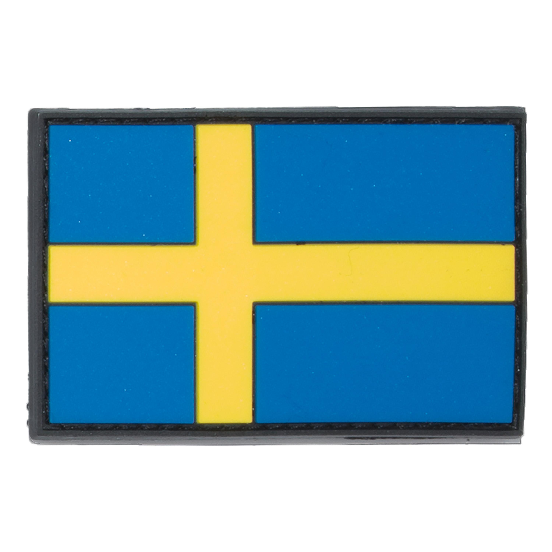 3D Rubberpatch Flagge Schweden bunt