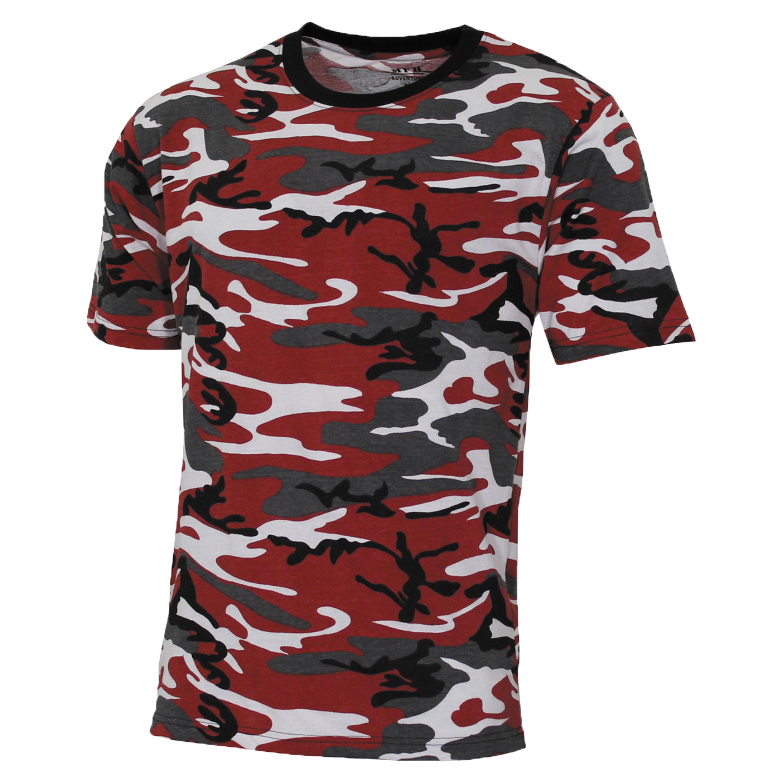 MFH T-Shirt US Streetstyle rot-camo