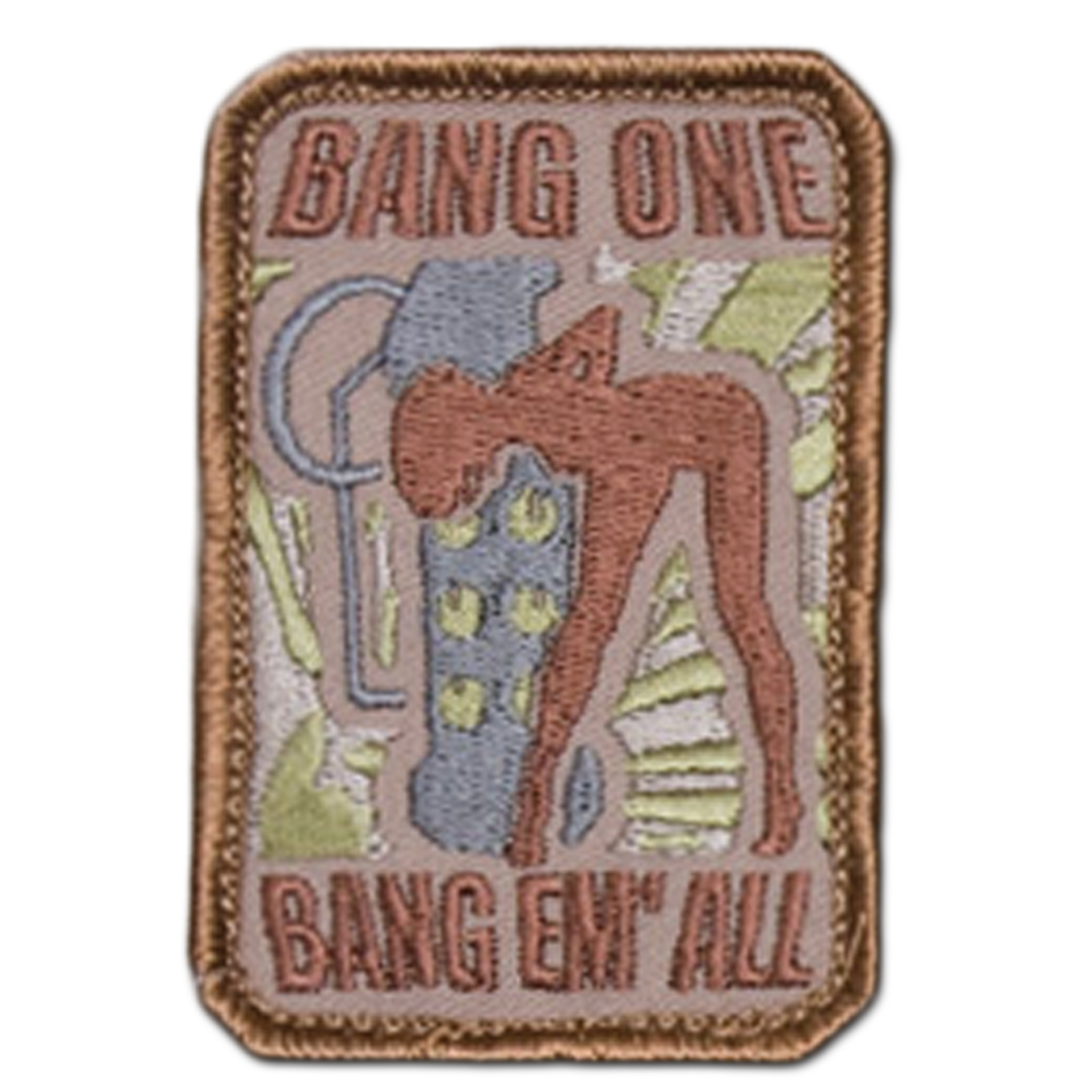 MilSpecMonkey Patch Bang One Bang Em All small desert